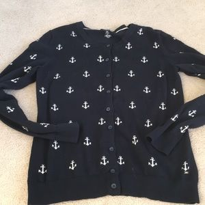 Tommy Hilfiger Cardigan Sweater Anchors Size M